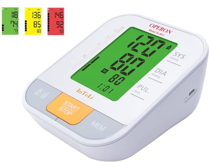 Operon B13 Inteli-Multi Color Display USB-Digital Blood Pressure Monitor Bp Monitor