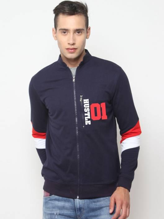 HUSTLE Full Sleeve Printed Men Jacket