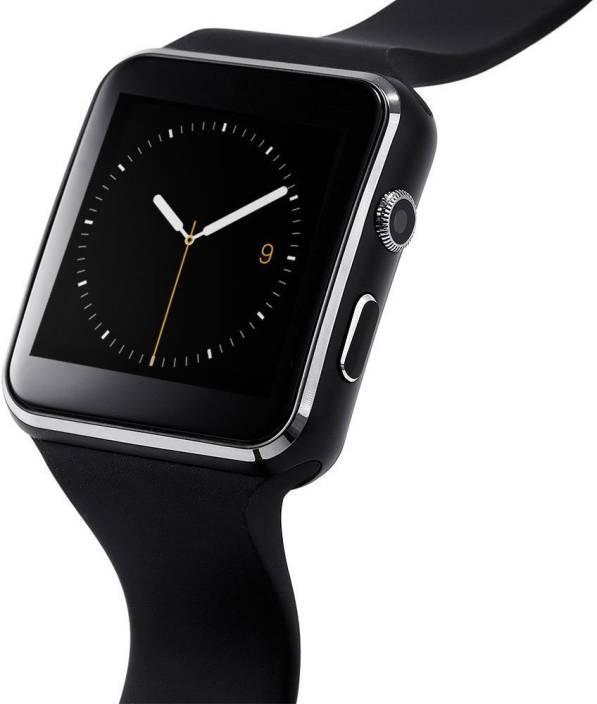 Lionix X6 Bluetooth Smart Watch Sim Support Micro SD Support Card Camera Pedometer Fitness Phone (Black) Smartwatch