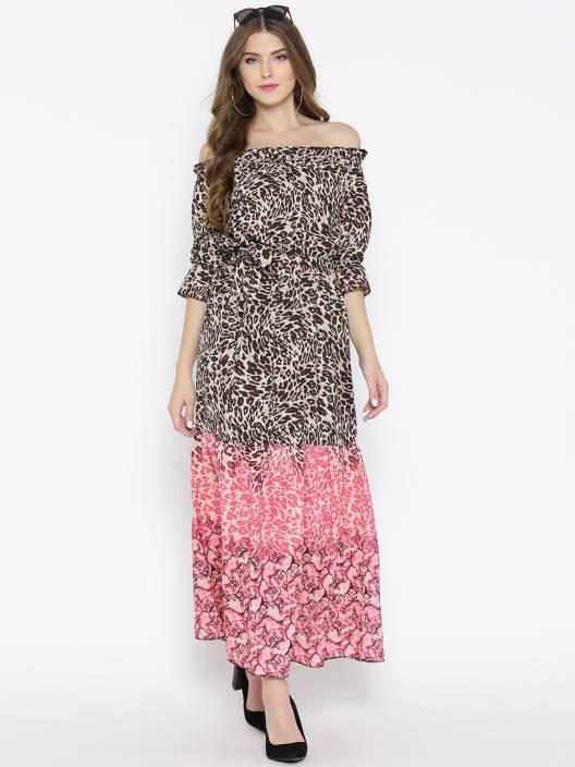 9f821ad8d6 Sera Women Maxi Multicolor Dress - Buy Sera Women Maxi Multicolor Dress  Online at Best Prices in India | Flipkart.com