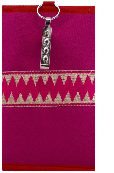796c7f313e Bagaholics Ethnic Raw Silk Saree Clutch Mobile Pouch Waist Clip Ladies Purse  Gift For Women Mobile Pouch (Pink)