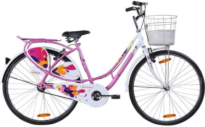 eb7c4d11c54 BSA Ladybird Splash (New Version) 26 T Girls Cycle/Womens Cycle (Single  Speed, Pink)