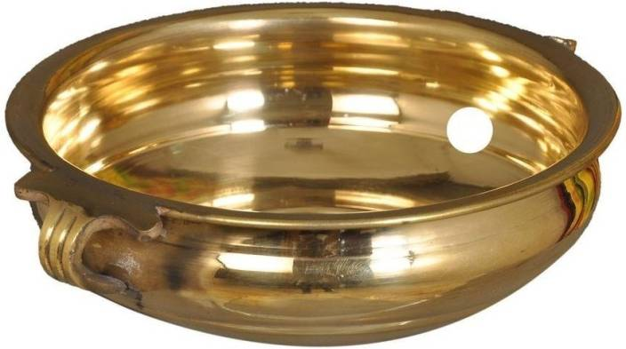 Stylorg Decorative Brass Urli Bowl For Flowers And Candles Antique