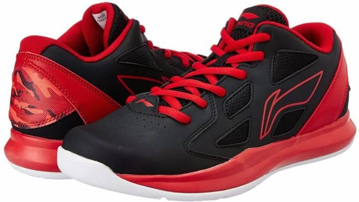 magasin en ligne b5e88 af5f9 Li-Ning ABPJ029-3 Black/Red Basketball Shoes For Men