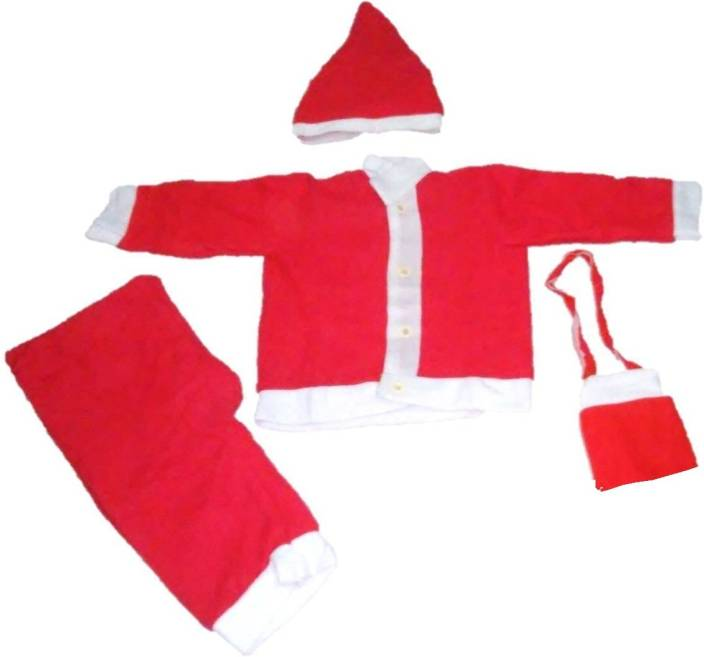 d7ffc2ec3f7a Sunshine Gifting Santa Claus Dress Costume for children Size No. 1 (For ages  5 Months to 1 Year) Kids Costume Wear Price in India - Buy Sunshine Gifting  ...