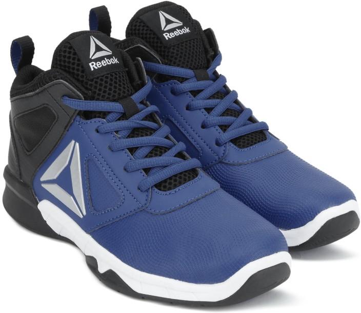 Reebok Kids' Dash N Drill Grade School Basketball Shoes Acid Blue WhiteElectric Flash