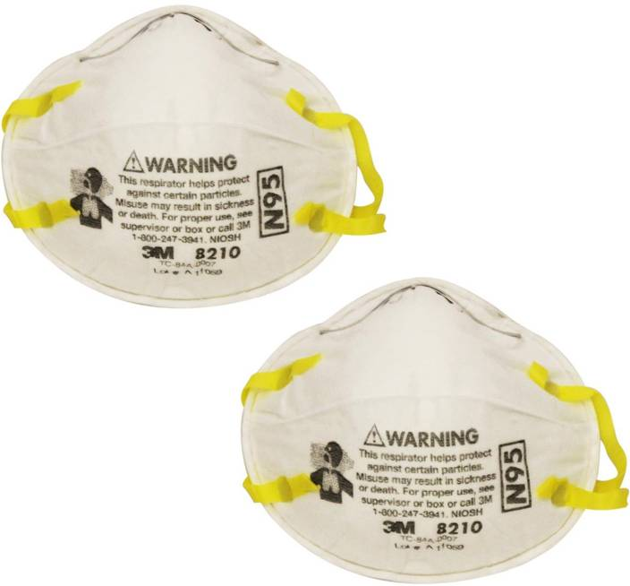 3M pack of 2 Particulate Respirator 8210, N95 Mask, NIOSH Approved 8210-MSK Mask and Respirator