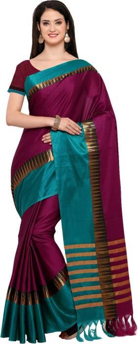 Ratnavati Striped Fashion Cotton Silk Saree