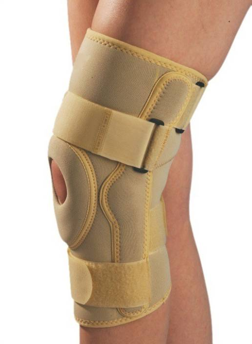 2da6741dc7 Kudize Functional Knee Stabilizer Knee Support Compression muscle Joint  Protection Gym Wrap Open Patella Hinge Brace Support Bandage Injury Guard  Beige ...