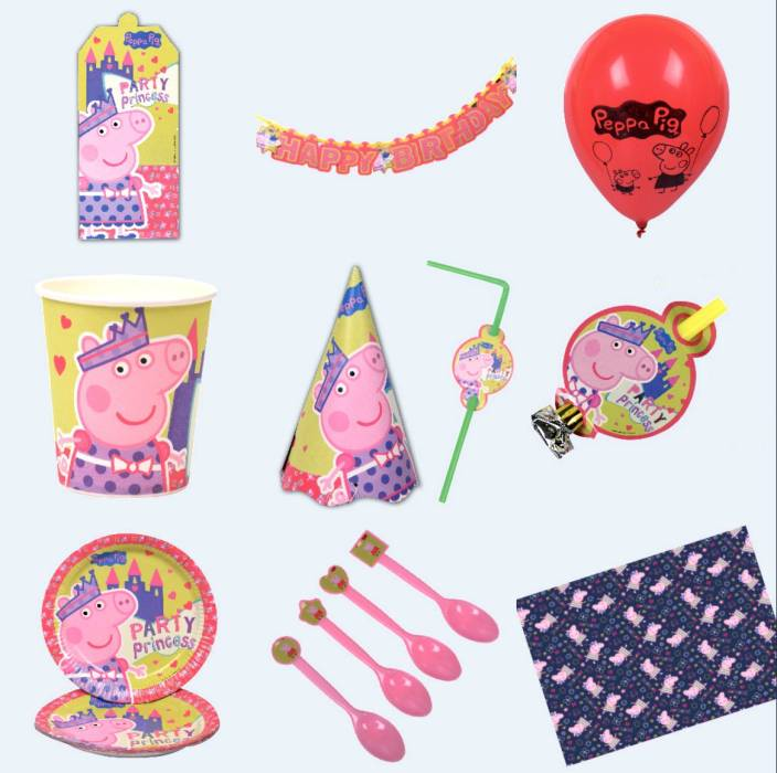 d19803d9154a2 iDream Peppa Pig Theme Party Supplies For 10 Guests Price in India - Buy  iDream Peppa Pig Theme Party Supplies For 10 Guests online at Flipkart.com
