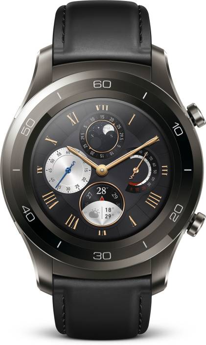 0fc54d00b Huawei Watch 2 Leather Titanium Grey Smartwatch Price in India - Buy ...