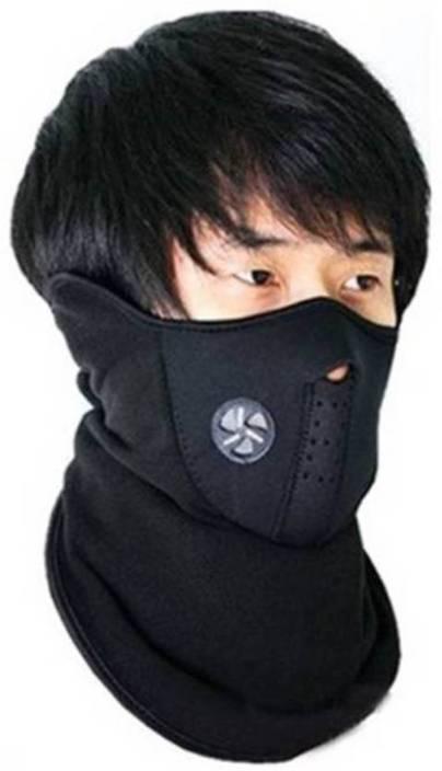 Bizinto Black Bike Face Mask for Men & Women (Size: Free) Mask