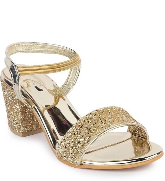 46ecda28a5 London Steps Women Golden Heels - Buy London Steps Women Golden Heels Online  at Best Price - Shop Online for Footwears in India | Flipkart.com