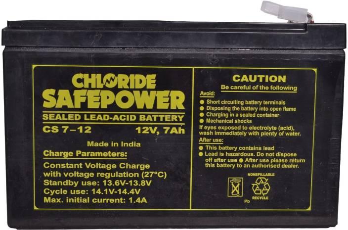 Exide 12v 7Ah Sealed Maintenance Free -UPS, CFL & Gel Solar Battery