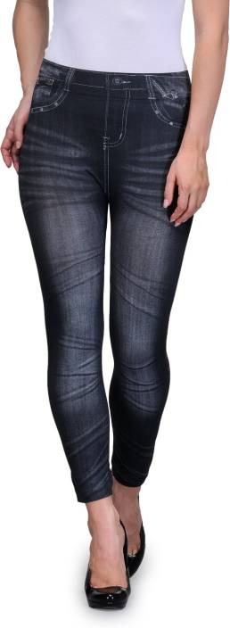 Oleva Black Jegging  (Printed)
