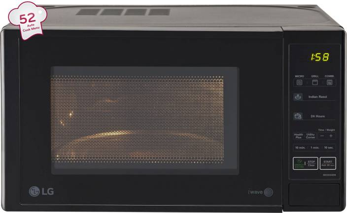 Lg 20 L Grill Microwave Oven Mh2044db Black