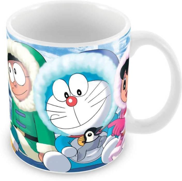 840318e8b Fantaboy Best Nobita Shizuka playing With Doraemon Printed Coffee Ceramic  Mug (330 ml)
