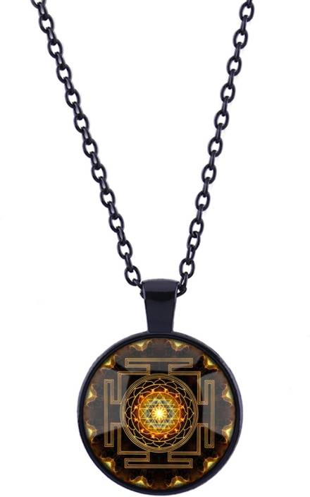 Young & Forever D'vine Collection Sri Yantra Mandala Glass