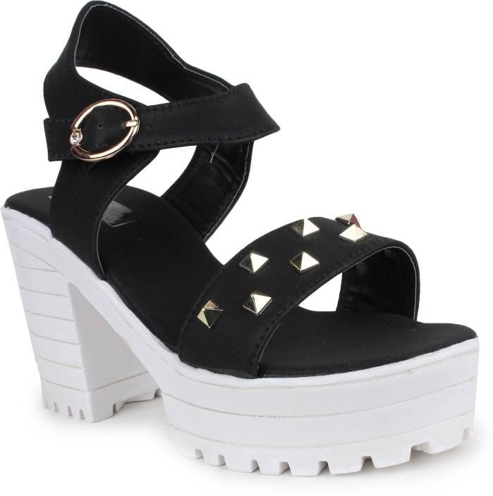 8675bb8c2d90 London Steps Women Black Wedges - Buy Black Color London Steps Women Black  Wedges Online at Best Price - Shop Online for Footwears in India