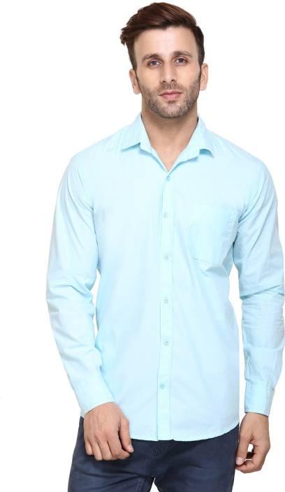 Maggivox Men's Solid Casual Shirt