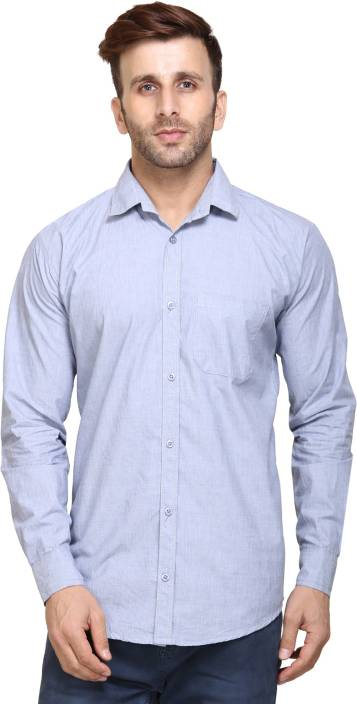 Maggivox Men's Solid Casual Shirt