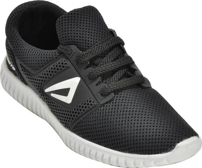 12f43c3242 Ajanta Impakto Men's Sports Shoes - Black & White Walking Shoes For Men ( Black, White)