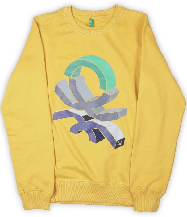 United Colors of Benetton. Full Sleeve Printed Boys Sweatshirt