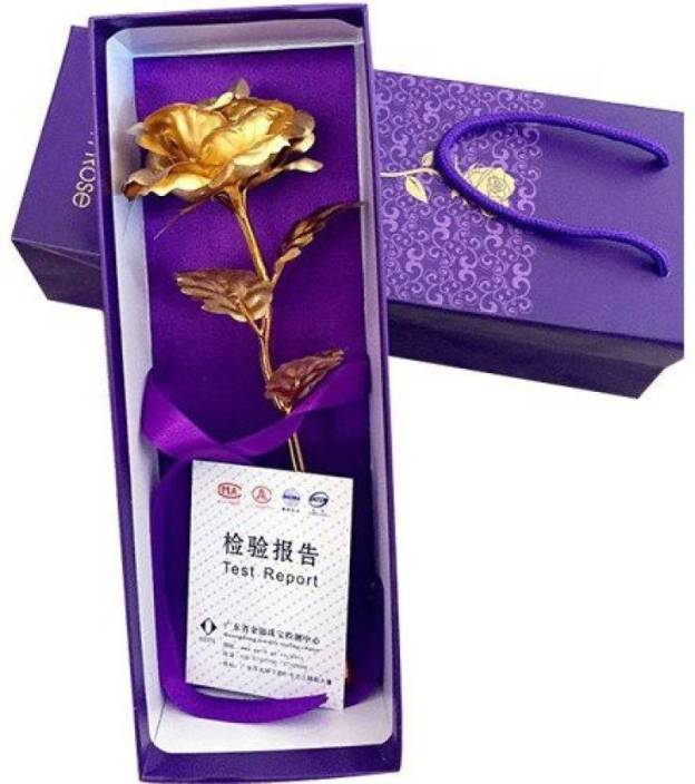StyleWell Golden Rose Valentine's Day love Theme Special 24k Artificial Flower Gift Set