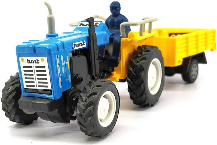 Centy Toys Tractor with Trolley (Multicolor)