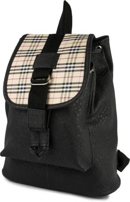04473ac9948c DAMDAM Stylish Girls School bag College Bag 5 L Backpack BLACK ...