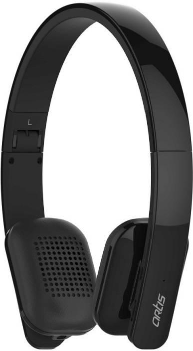 2d87de818c3 Artis BH300M Wireless Bluetooth Headphone Bluetooth Headset with Mic  (Black, Over the Ear)