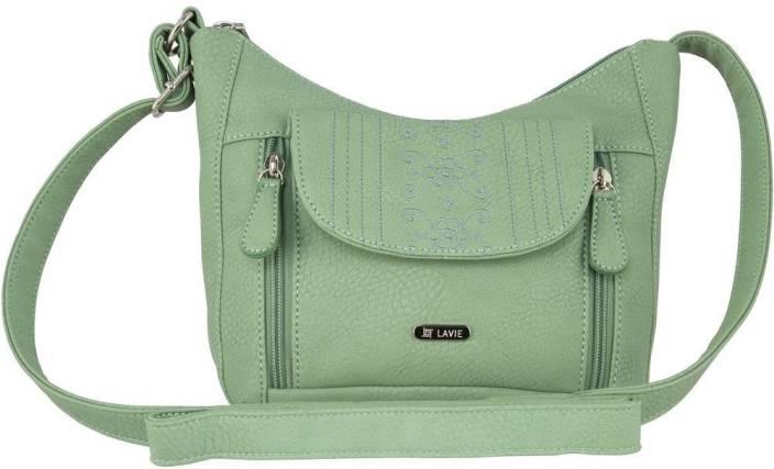 Lavie Women Green PU Sling Bag