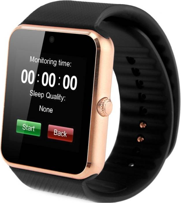 MOBILE LINK Samsu.ng Compatible Bluetooth Smartwatch with Camera and Sim Slot Gold Smartwatch