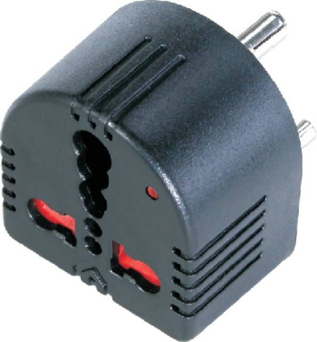 MX CONVERTS 5 Amps TO 15 Amps-CONVERSION PLUG 3 PIN WITH CHILD SAFETY  SHUTTER & WITH INDICATOR 1 Socket Surge Protector