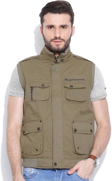 d03a1b086f1233 Duke Stardust Sleeveless Solid Men s Jacket - Buy Khaki Duke Stardust Sleeveless  Solid Men s Jacket Online at Best Prices in India