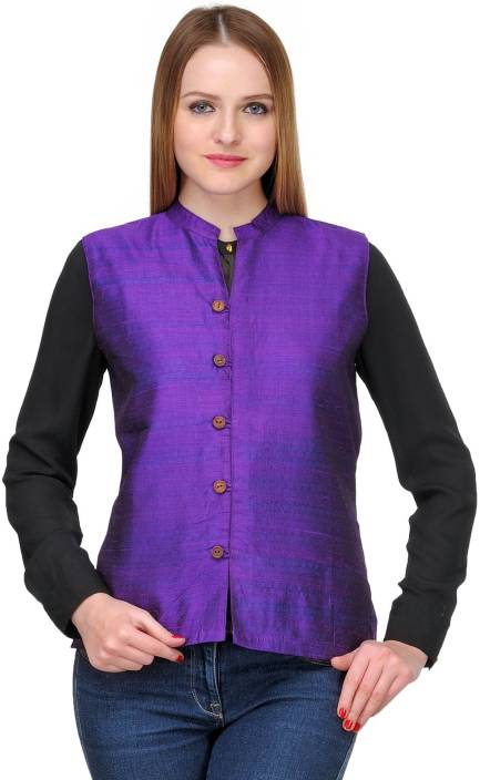 41562703825 Fuchsia Designs Sleeveless Solid Women's Nehru Jacket - Buy Purple Fuchsia  Designs Sleeveless Solid Women's Nehru Jacket Online at Best Prices in  India ...