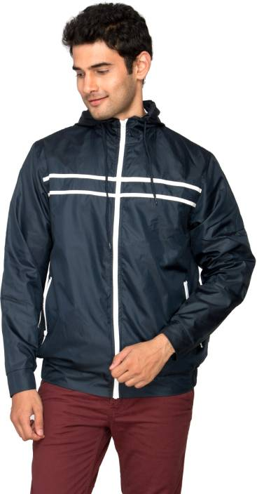 IDENTITI Full Sleeve Solid Men's Rain Jacket - Buy Navy IDENTITI ...