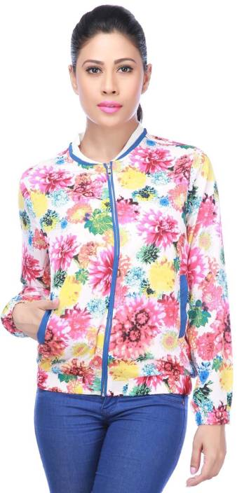 Life by Shoppers Stop Full Sleeve Floral Print Women's Quilted Jacket