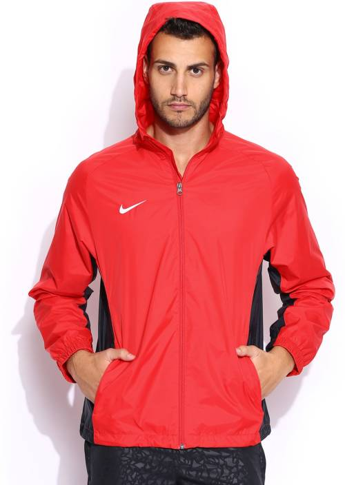 4632bf88b7c8 Nike Full Sleeve Solid Men s Rain Jacket - Buy Red Nike Full Sleeve Solid  Men s Rain Jacket Online at Best Prices in India
