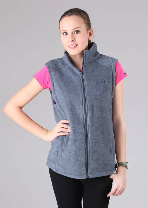Wildcraft Sleeveless Solid Women's Fleece Jacket - Buy Blue ...