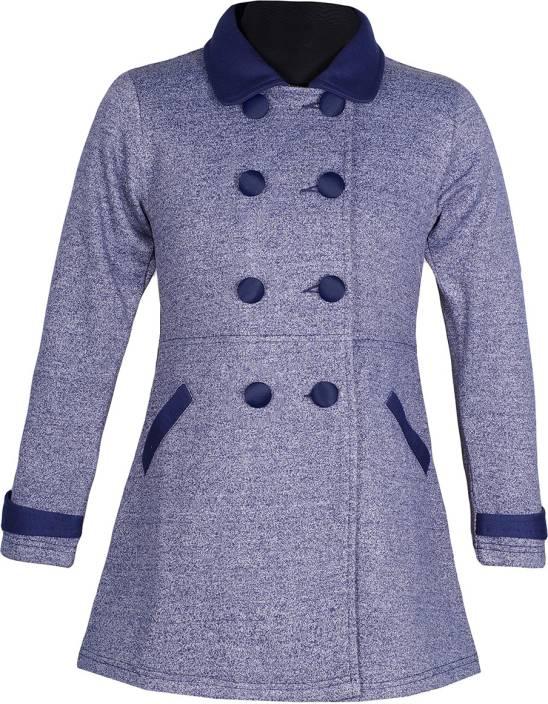 23b15c967a6c Naughty Ninos Full Sleeve Solid Girls Jacket - Buy Blue Naughty ...