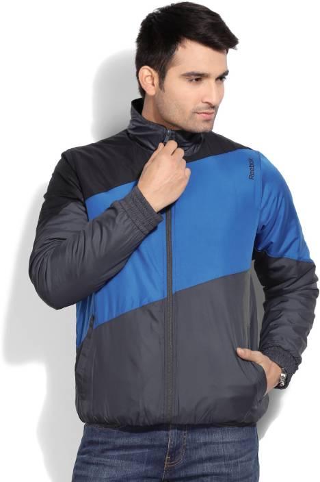9a9f122ea REEBOK Full Sleeve Solid Men s Wind Cheater Jacket - Buy GRAVEL REEBOK Full  Sleeve Solid Men s Wind Cheater Jacket Online at Best Prices in India ...