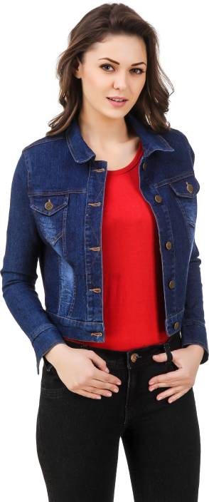 99 Affair Full Sleeve Solid Women's Denim Jacket - Buy BLUE 99 ...
