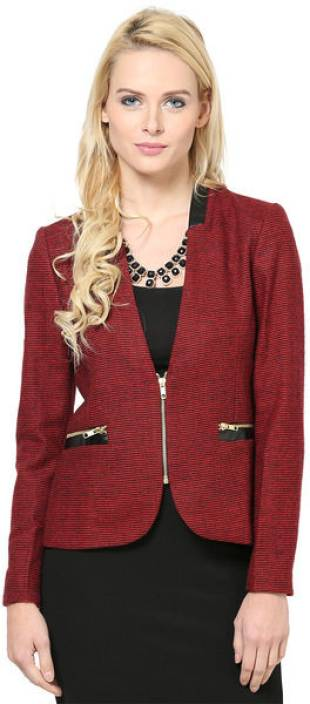 The Vanca Full Sleeve Checkered Women's Jacket