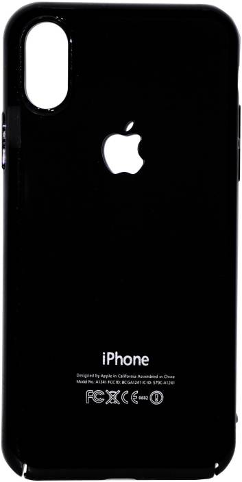 hot sale online 98011 66f37 ASF Back Cover for Apple iPhone X Premium glossy black Apple logo ...