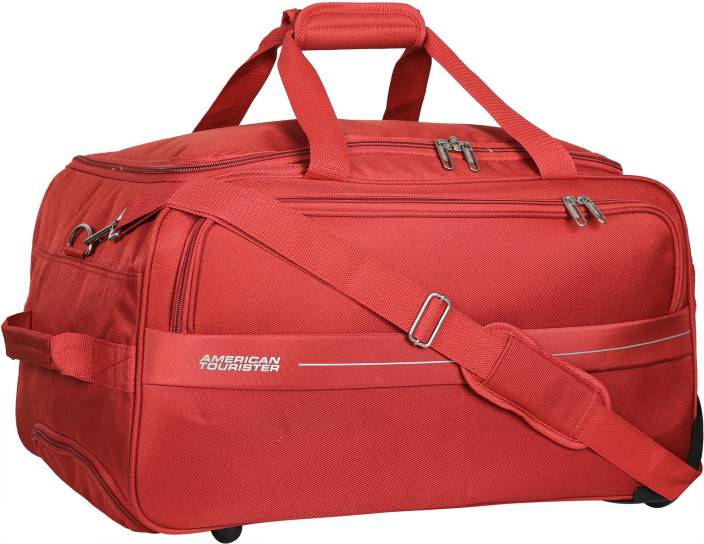 0d79b7814 American Tourister 22 inch 56 cm (Expandable) Marco Travel Duffel Bag (Red)