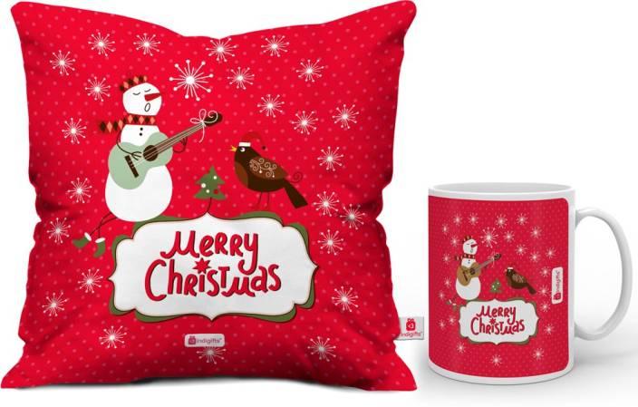 Indigifts 0D-0CM001-0XMS-Y16-D123 Cushion, Mug Gift Set