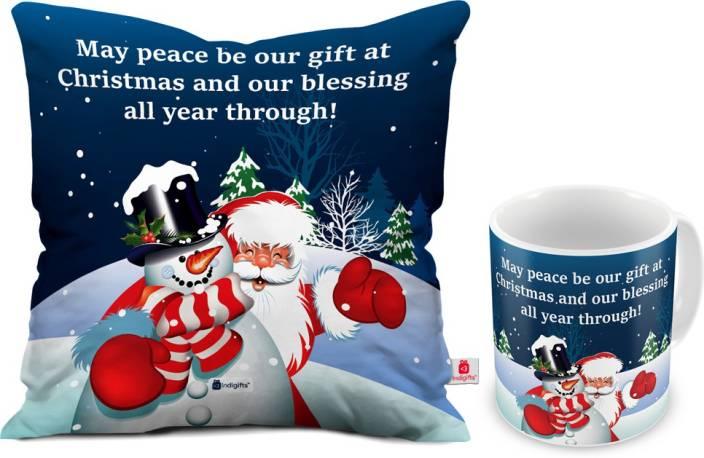 Indigifts 0D-0CM001-0XMS-Y15-D004 Cushion, Mug Gift Set