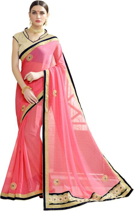 BAPS Embroidered Bollywood Georgette Saree