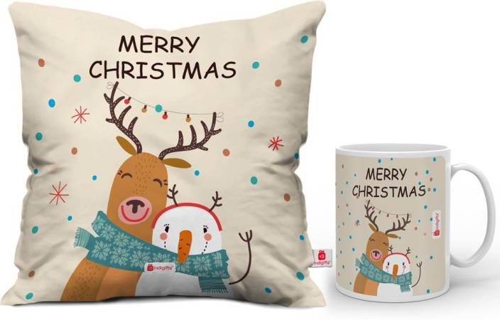 Indigifts 0D-0CM001-0XMS-Y16-D156 Cushion, Mug Gift Set